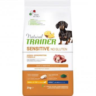 Trainer 2кг Natural Sensitive No Gluten Adult Mini Duck сухой корм для собак мелких пород Утка