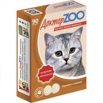 Доктор ZOO со вкусом копченостей 90 таб. Мультивитаминное лакомство для кошек