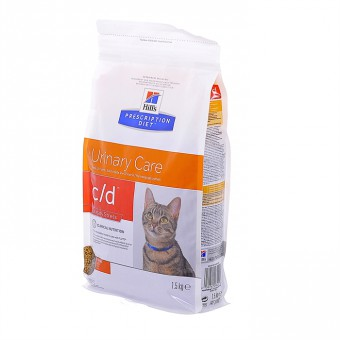 "Hill's 1,5кг Prescription Diet C/D для кошек ""Профилактика МКБ при стрессе"", Feline c/d"