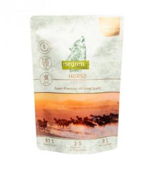 Isegrim Roots 410гр Паучи для собак Монопротеин - Конина со смесью овощей,льняным маслом и полевыми травами