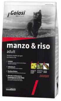 Golosi 1,5 кг корм для кошек с говядиной и рисом, Adult Manzo e Riso
