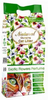 Indian Cat Litter Natural Аромат №5 Экзотические цветы наполнитель бентонит 10 кг