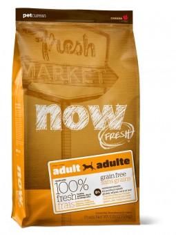 Now Fresh 5,54 кг Dog Grain Free Adult Turkey, Salmon, Duck & Omega Oils Беззерновой сухой корм для взрослых собак всех пород с индейкой, лососем, уткой и Омега 3