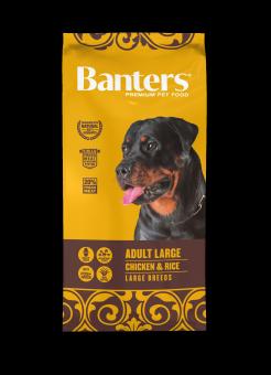 Banters 15 кг Dog Adult Large Breeds Chicken & Rice Сухой корм для взрослых собак крупных пород Курица и Рис