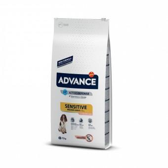 Advance 12кг Sensitive salmon rice Сухой корм для взрослых собак с пищевой аллергией лосось рис
