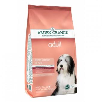 Arden Grange 2 кг Adult salmon rice Сухой корм для взрослых собак с чувствительной кожей и деликатным желудком лосось рис