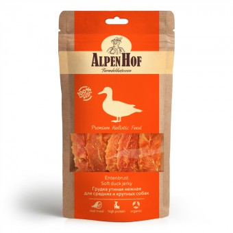 AlpenHof (АльпенХоф) 80 г Лакомство для средних и крупных пород собак Грудка утиная нежная