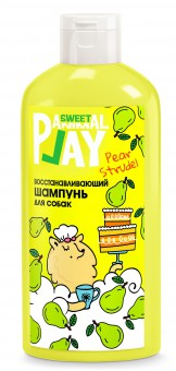 Animal Play (Энимал Плэй) Sweet Шампунь для собак и кошек восстанавливающий Грушевый штрудель 300мл