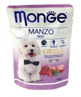 Monge Dog 100гр Grill Pouch паучи для собак говядина