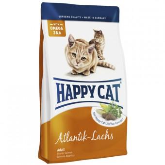 Happy cat 4 кг Adult salmon Сухой корм для взрослых кошек Атлантический лосось