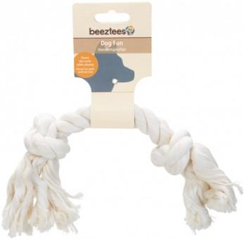 Beeztees Игрушка для собак Канат с 2-мя узлами белый 32 см
