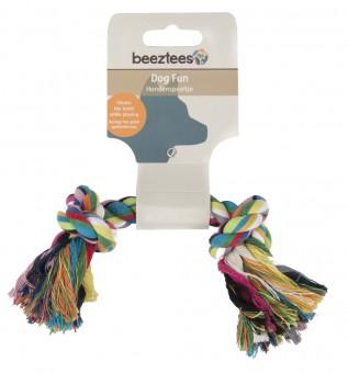 Beeztees Игрушка для собак Канат разноцветный с 2-мя узлами 20 см