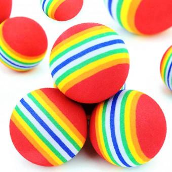 Beeztees Набор игрушек для кошек Мяч полосатый мягкий 4шт*4см