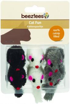 Beeztees Набор игрушек для кошек Мышь плюшевая 6шт*6см