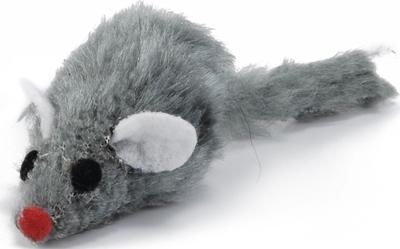 Beeztees Игрушка для кошек Мышь плюшевая серая 5см