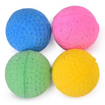Beeztees Набор игрушек для кошек Мяч для гольфа мягкий 4шт*4см