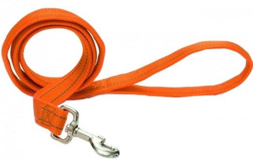 Beeztees Поводок Aventura светоотражающий нейлоновый оранжевый 120см*20мм