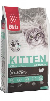 BLITZ 400г KITTEN полнорационный сухой корм для котят