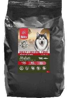 BLITZ HOLISTIC 0,5 кг ADULT BEEF & WHITE FISH сухой низкозерновой корм для взрослых собак говядина и белая рыба