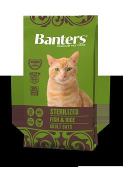 Banters 8 кг Cat Adult Sterilized Fish & Rice Сухой корм для взрослых стерилизованных кошек Рыба и Рис
