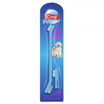 Cliny (Клини) Зубная щетка и массажер для десен для кошек и собак