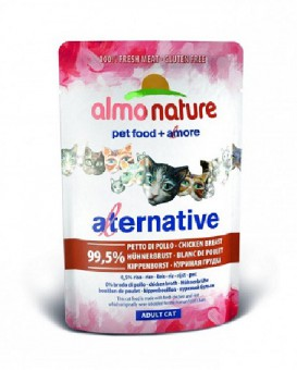 6шт Almo Nature 55гр Паучи для кошек Куриная Грудка 99,5% мяса