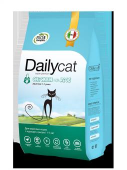 DailyCat 400 г Adult cat Chicken and Rice корм для взрослых кошек с курицей и рисом