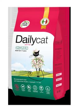 DailyCat400 г Grain Free Adult cat Chicken беззерновой корм для взрослых кошек с курицей