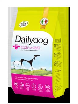 DailyDog20 кг Adult dog Medium Breed Lamb and Rice корм для взрослых собак средних пород с ягненком и рисом