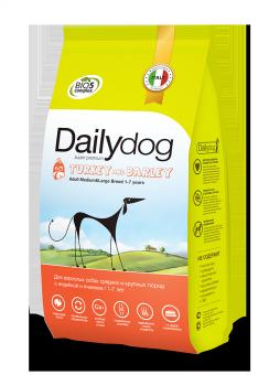 DailyDog12 кг Adult dog Medium&Large Breed Turkey and Barley корм для взрослых собак средних и крупных пород с индейкой и ячменем
