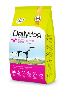 DailyDog1,5 кг Adult dog Small Breed Lamb and Rice корм для взрослых собак мелких пород с ягненком и рисом