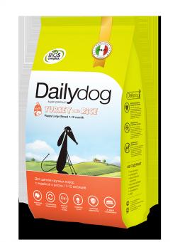 DailyDog3 кг Puppy Large Breed Turkey and Rice корм для щенков крупных пород с индейкой и рисом