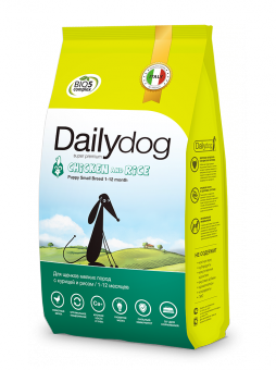 DailyDog 3 кг Puppy Small Breed Chicken and Rice корм для щенков мелких пород с курицей и рисом