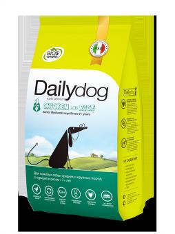 DailyDog 12 кг Senior Medium&Large Breed Chicken and Rice корм для пожилых собак средних и крупных пород с курицей и рисом