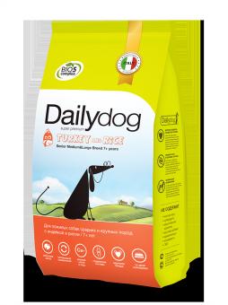 DailyDog 20 кг Senior Medium&Large Breed Turkey and Rice корм для пожилых собак средних и крупных пород с индейкой и рисом