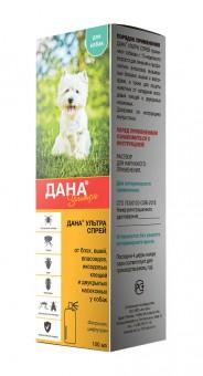 Дана Ультра Спрей для собак для профилактики и борьбы с блохами, вшами, власоедами и другими насекомыми 100 мл