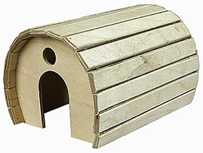Дарэлл Домик для грызунов деревянный полукруглый