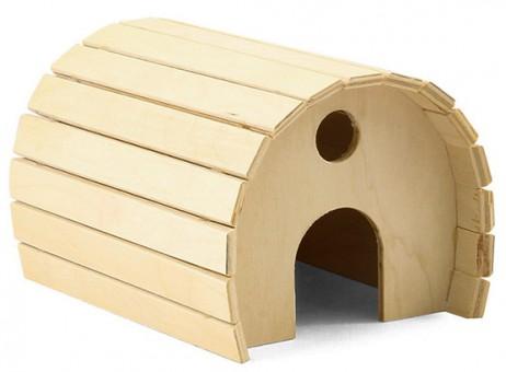 Дарэлл 15*12*h10см Домик для грызунов деревянный полукруглый