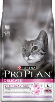 Pro Plan 1,5 кг Delicate turkey Сухой корм для взрослых кошек с чувствительной кожей и пищеварением индейка рис