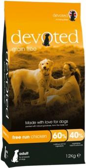 Devoted 12кг корм беззерновой для собак с Курицей свободного выгула