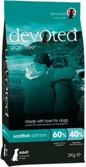 Devoted 2кг корм беззерновой для собак с шотландским Лососем