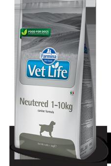 Farmina 10кг Vet Life Dog Neutered 1-10kg Диета для стерилизованных и кастрированных собак весом до 10кг
