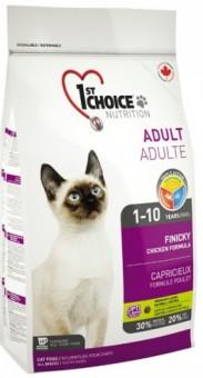 1st Choice 2,72 кг Finicky сухой корм для привередливых взрослых кошек (с цыпленком)