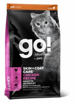 Go! Solutions Cat 3,63 кг Skin + Coat Care Grain Free Chicken беззерновой корм для кошек и котят Цыпленок
