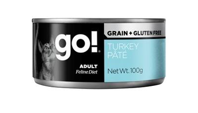 1шт Go Natural Holistic 100гр Turkey Pate консервы беззерновые с индейкой для кошек, паштет