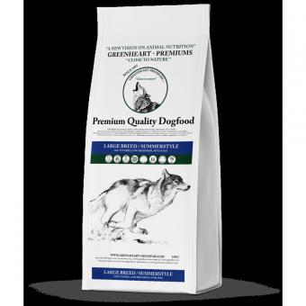 Greenheart-Premiums 15кг LARGE BREED / Sportline SUMMERSTYLE Сухой корм для щенков и юниоров средних и крупных пород с курицей и рыбой