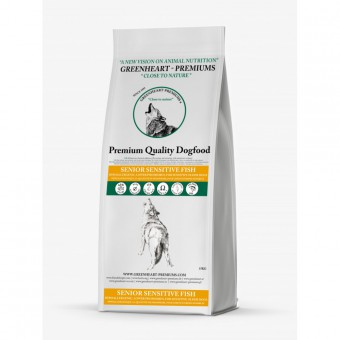 Greenheart-Premiums 4кг Senior Sensitive Fish Сухой корм для пожилых собак с лососем