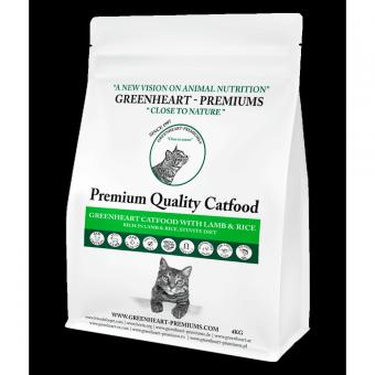 Greenheart-Premiums 10кг Catfood LAMB & Rice Сухой корм для взрослых кошек Ягненок и Рис