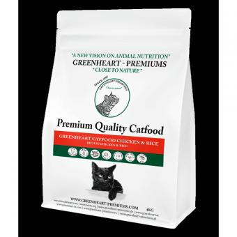 Greenheart-Premiums 1,5кг Catfood CHICKEN & Rice Сухой корм для взрослых кошек Курица и Рис