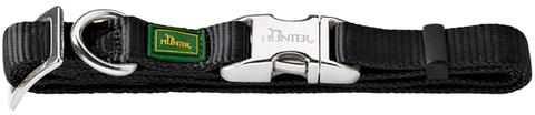Hunter ошейник для собак M (40-55 см) Alu-Strong черный